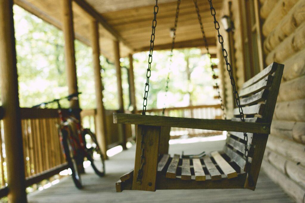 kare balkon dekorasyonu için sandalye